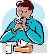 鼻炎で鼻をかむ人